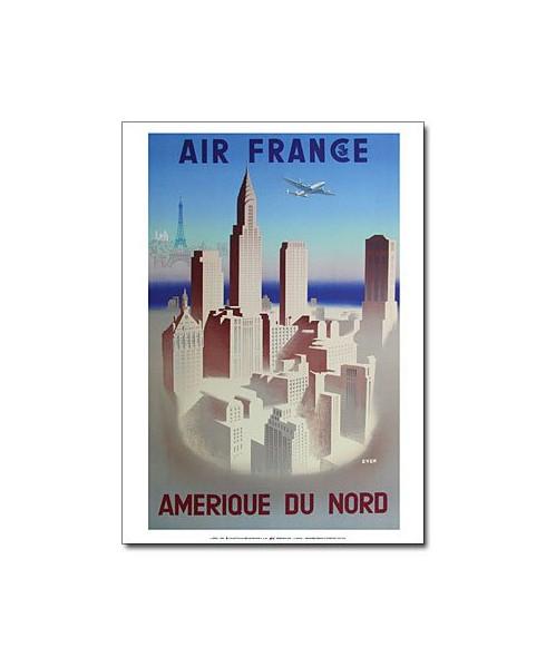 Affiche Air France, Amérique du Nord (petit modèle)