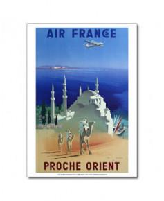 Affiche Air France, Proche Orient (petit modèle)