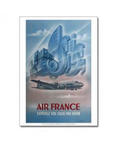 Affiche Air France, Expédiez vos colis par avion (petit modèle)