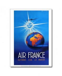 Affiche Air France, Rayonne sur le monde (petit modèle)