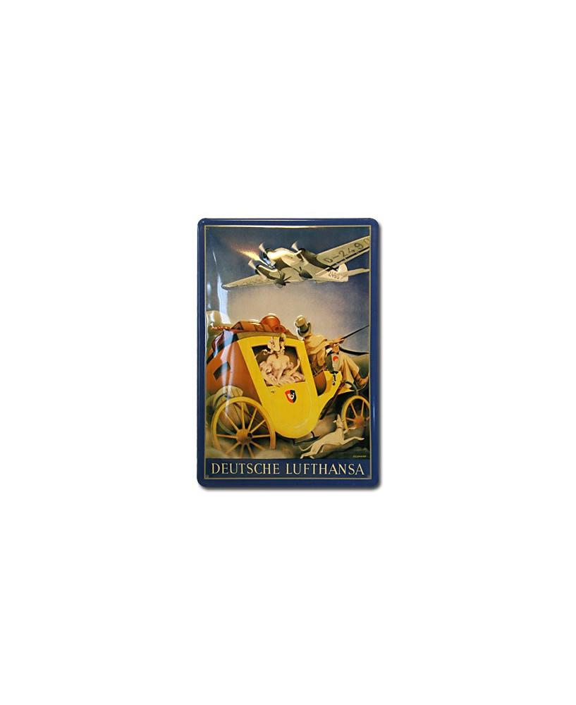 Plaque décorative en relief Lufthansa (diligence) (20 x 30 cm)