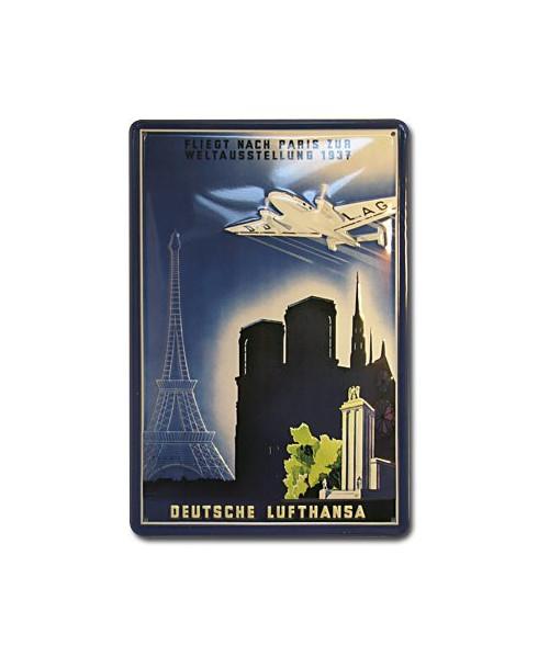 Plaque décorative en relief Lufthansa : Paris (20 x 30 cm)