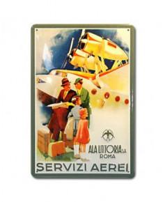 Plaque décorative en relief Servizi Aerei (20 x 30 cm)