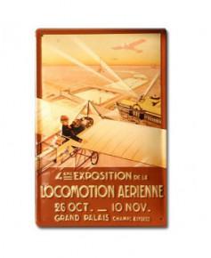 Plaque décorative en relief 4e exposition de la locomotion aérienne (20 x 30 cm)