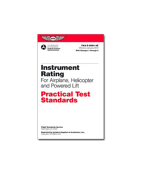 Practical Test Standards - Instrument rating
