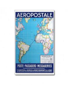 Affiche Aéropostale : Poste - Passagers - Messageries
