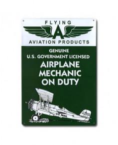 Plaque décorative en relief Airplane Mechanic on Duty