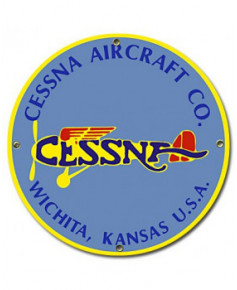 Plaque émaillée Cessna