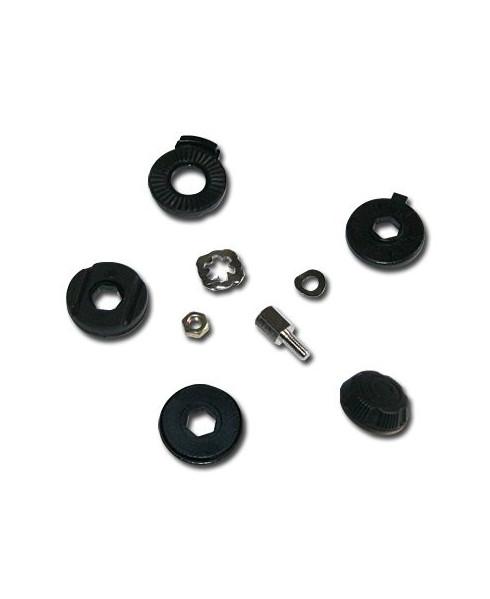 Ecrou nylon ajustable à la main pour micro casque PA11-40
