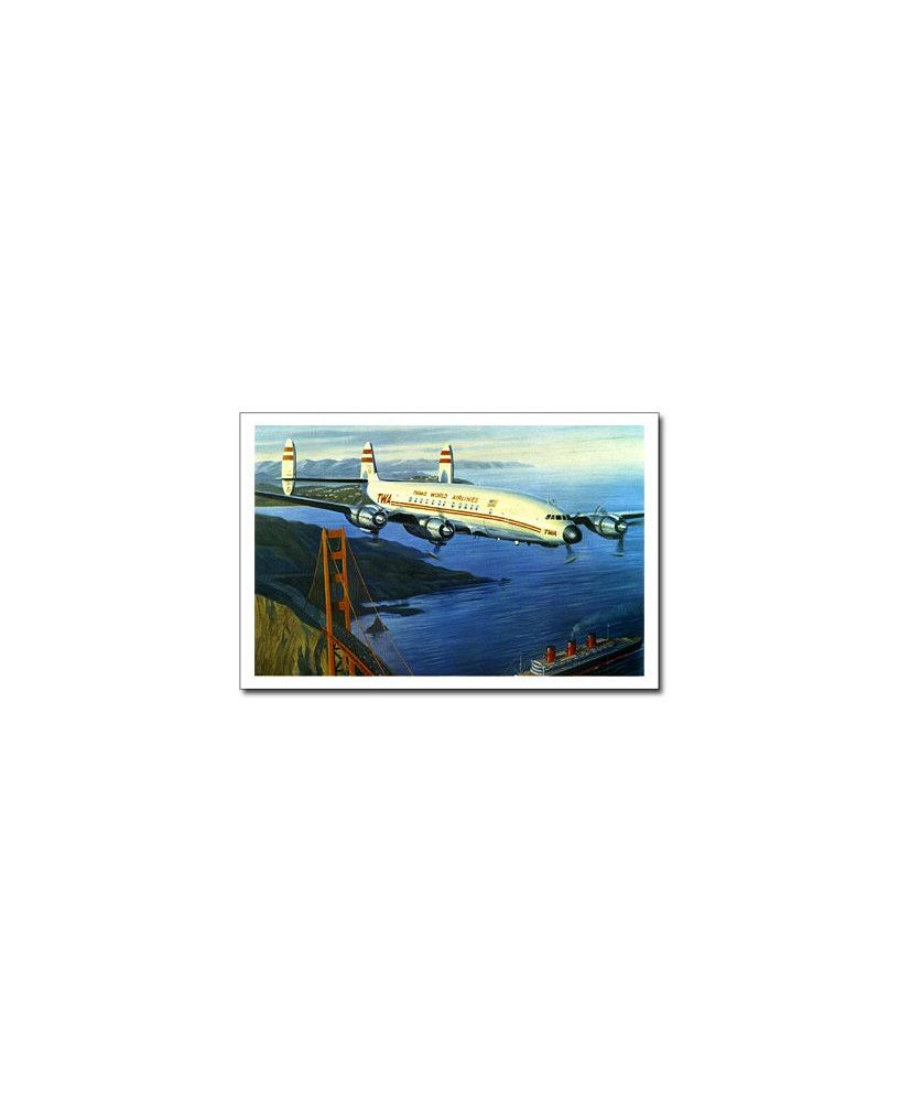 Carte postale Benjamin FREUDENTHAL - Lockheed Super Constellation TWA
