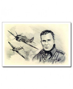 Carte postale Benjamin FREUDENTHAL - Pierre CLOSTERMANN (portrait au crayon)