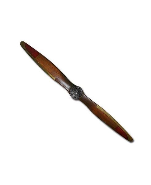 Hélice de décoration en bois 1.86 m avec bord d'attaque en métal