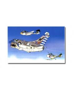 Carte postale humoristique Vought A7E Corsair II