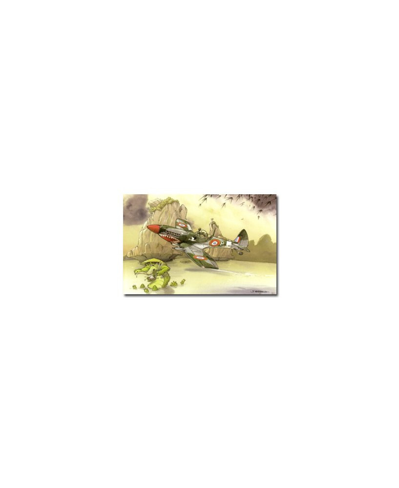 Carte postale humoristique Supermarine Spitfire Mk IX