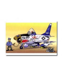 Carte postale humoristique North American F86D Sabre Dog