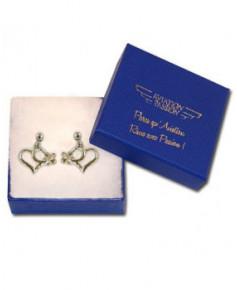 Boucles d'oreilles avion/cœur en argent