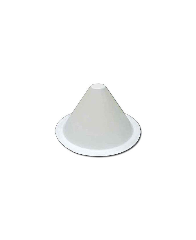 Balise de piste blanche ronde / conique
