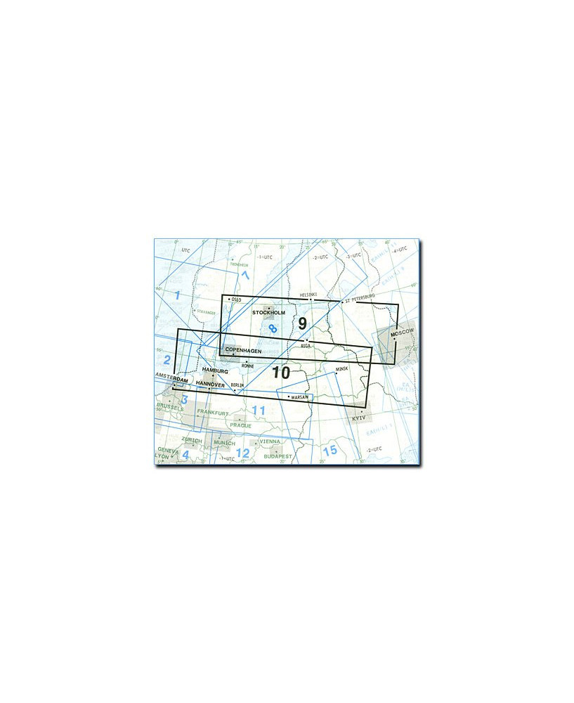 Carte Jeppesen Europe En Route basse altitude E(LO) 9/10