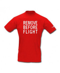 Tee-shirt Remove Before Flight / Aviation Passion - Taille XXL