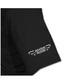 Tee-shirt Attention à la vache ! - Noir / Aviation Passion - Taille L