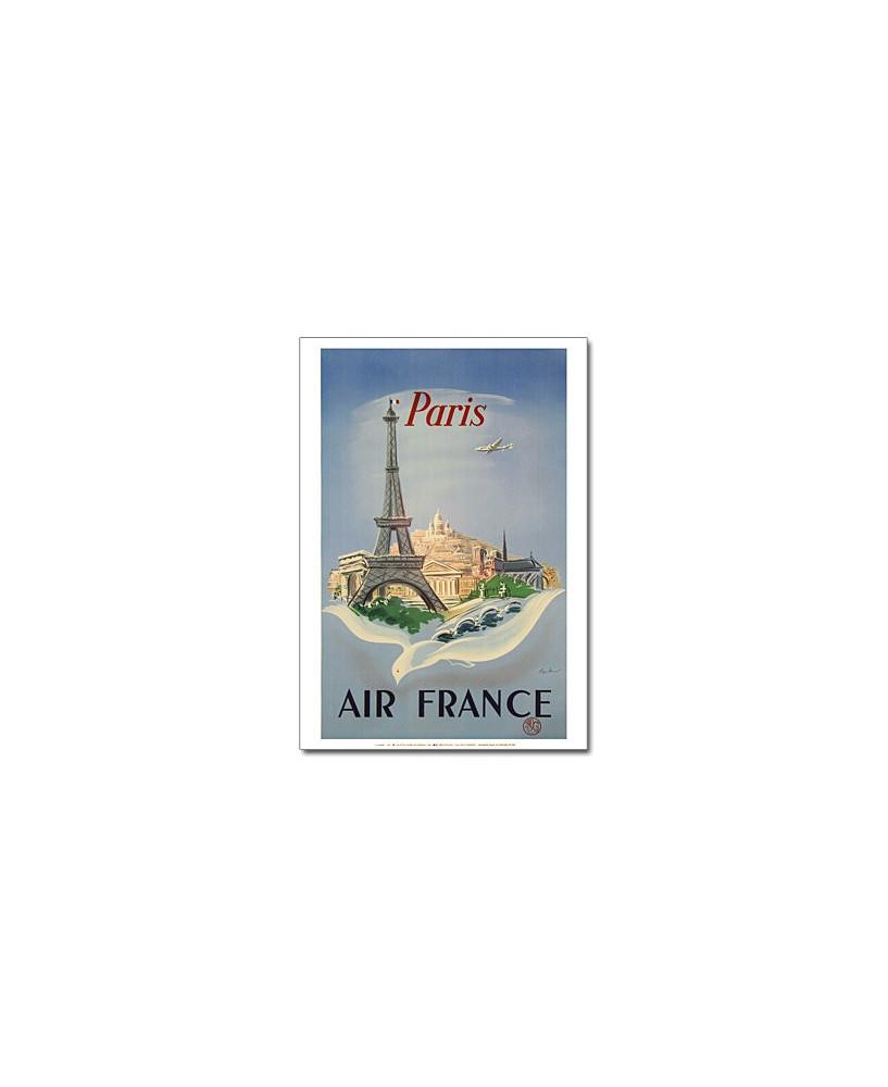 """Affiche Air France, Paris """"Colombe"""" (petit modèle)"""
