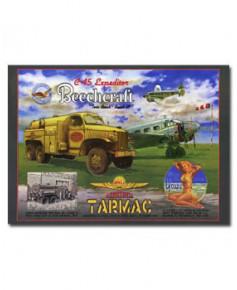 Plaque décorative en relief Beechcraft Tarmac