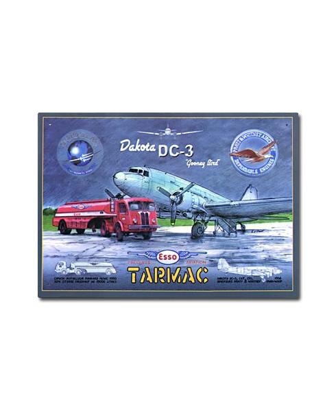 Plaque décorative en relief DC3 Tarmac