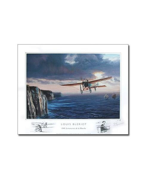 Poster Louis BLERIOT - 1909, la traversée de la Manche