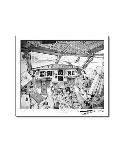 Illustration Airbus série A318 / A319 / A320 / A321 - Tableau de bord