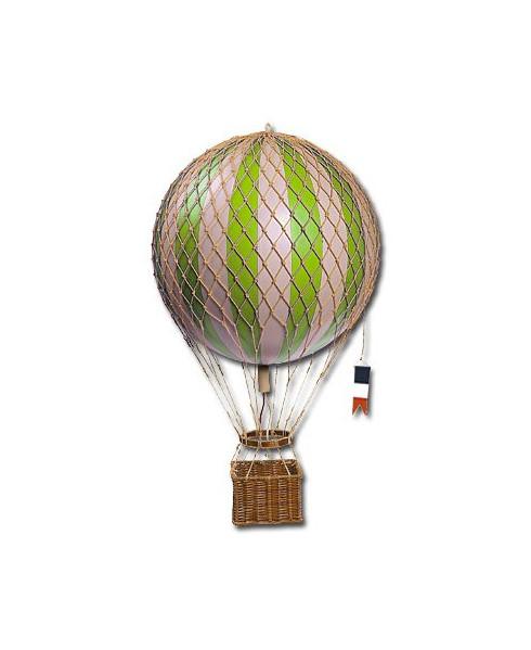 Maquette montgolfière verte diamètre 18 cm