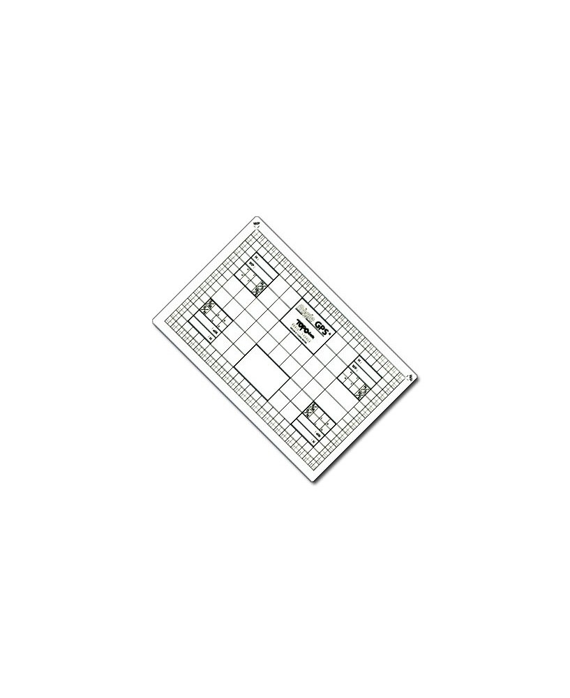 Règle G.P.S. Topoplastic - Modèle de poche