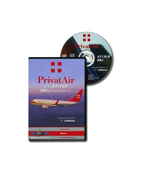 D.V.D. World Air Routes - Privatair A319LR BBJ