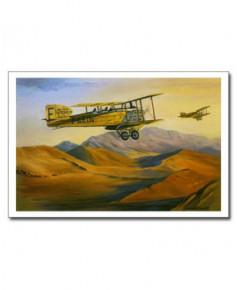 Carte postale Benjamin FREUDENTHAL - Breguet XIV au-dessus du désert marocain