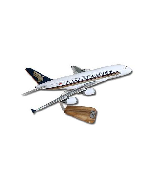 Maquette bois Airbus A380-800 Singapore Airlines - 1/140e