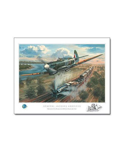 Poster Spitfire MK V - Général Jacques ANDRIEUX