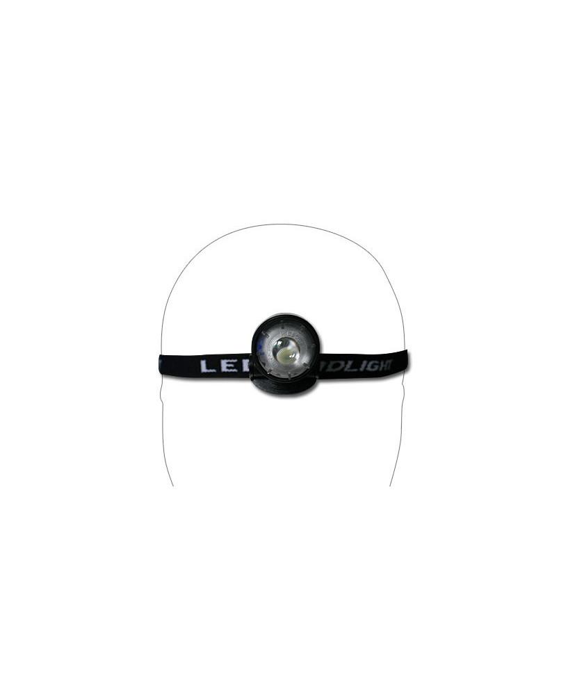 Mini lampe frontale 1 L.E.D. avec loupe
