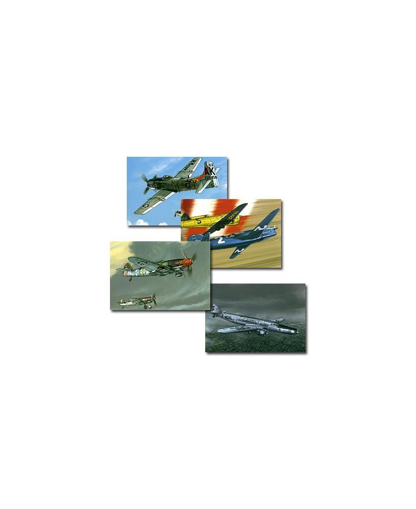 Lot cartes postales Romain HUGAULT