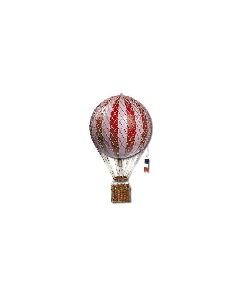 Maquette montgolfière rouge diamètre 18 cm