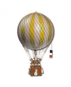 Maquette montgolfière jaune diamètre 32 cm