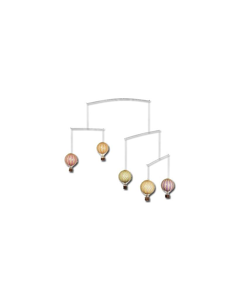 Mobile montgolfières couleurs pastels