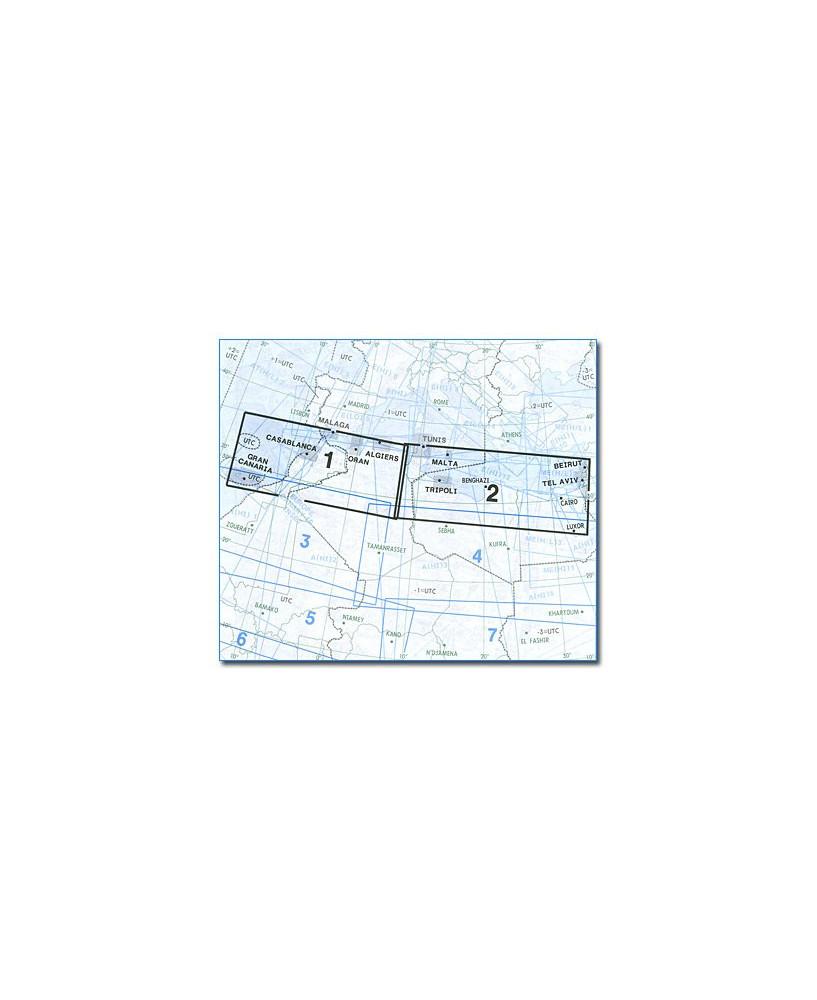 Carte Jeppesen Afrique En Route haute et basse altitude A(H/L) 1/2
