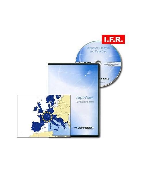 Logiciel et abonnement annuel Jeppview I.F.R. pour l'Europe