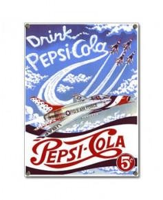 Plaque émaillée Pepsi-Cola Thunderbird