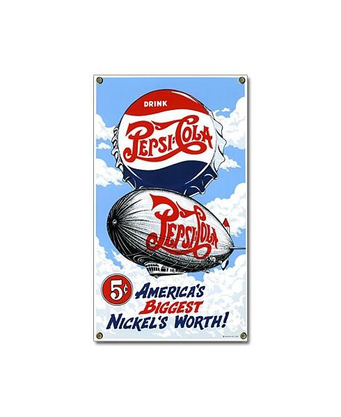 Plaque émaillée Pepsi-Cola Zeppelin