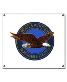 Plaque émaillée Pratt & Whitney