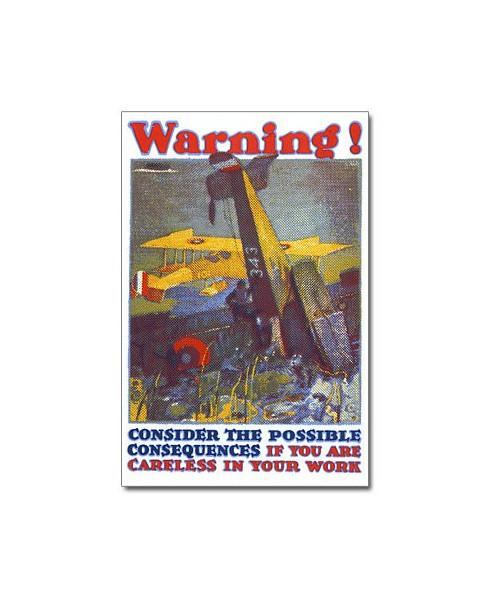 Magnet émaillé Warning