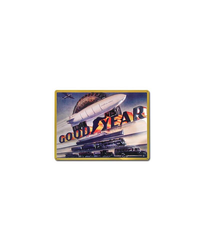 Plaque décorative en relief Good Year (grand modèle)