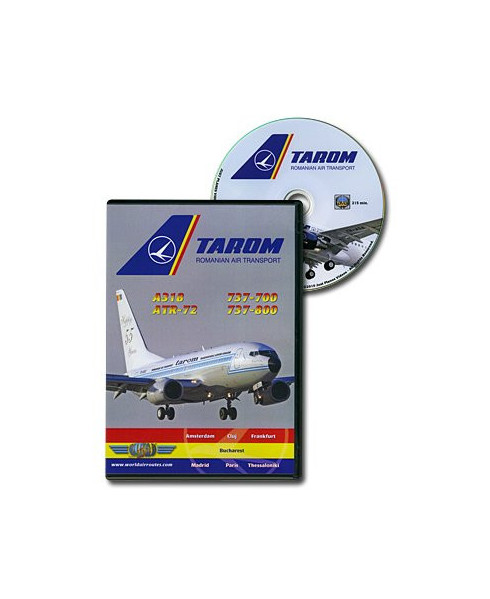 D.V.D. World Air Routes - Tarom A318 ATR72 B737
