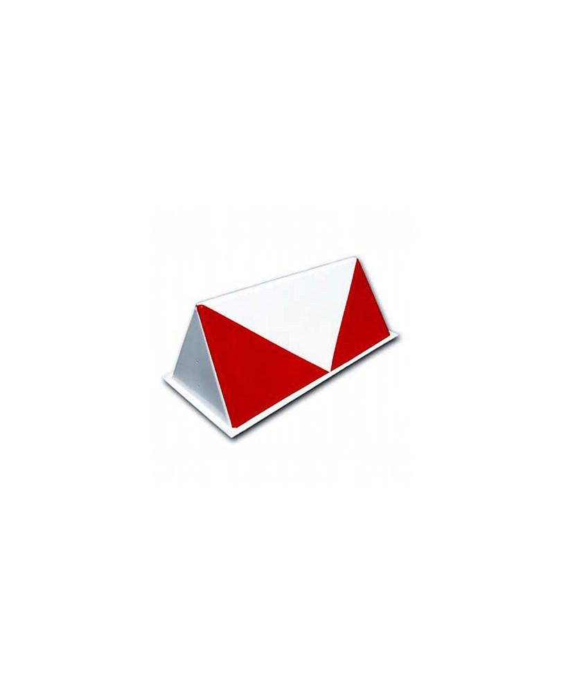 Balise de piste dièdre rouge et blanche