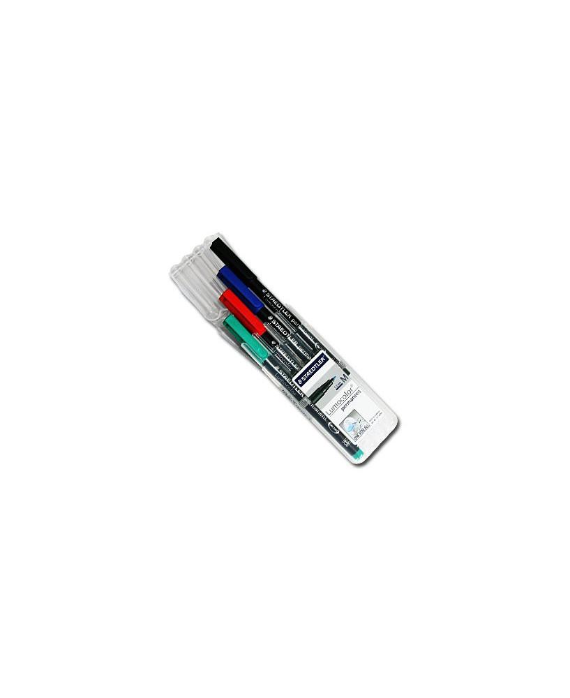 Etui 4 couleurs - Feutres permanents pointe moyenne